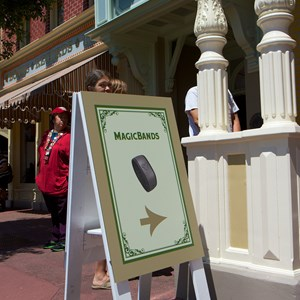 1 of 5: MyMagic+ - MagicBand retail display at the Magic Kingdom's Emporium