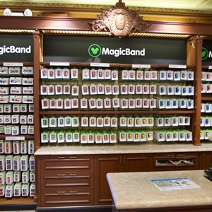 3 of 5: MyMagic+ - MagicBand retail display at the Magic Kingdom's Emporium