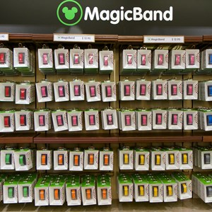 4 of 5: MyMagic+ - MagicBand retail display at the Magic Kingdom's Emporium
