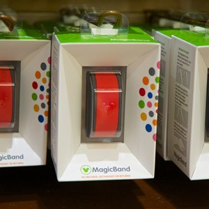 5 of 5: MyMagic+ - MagicBand retail display at the Magic Kingdom's Emporium