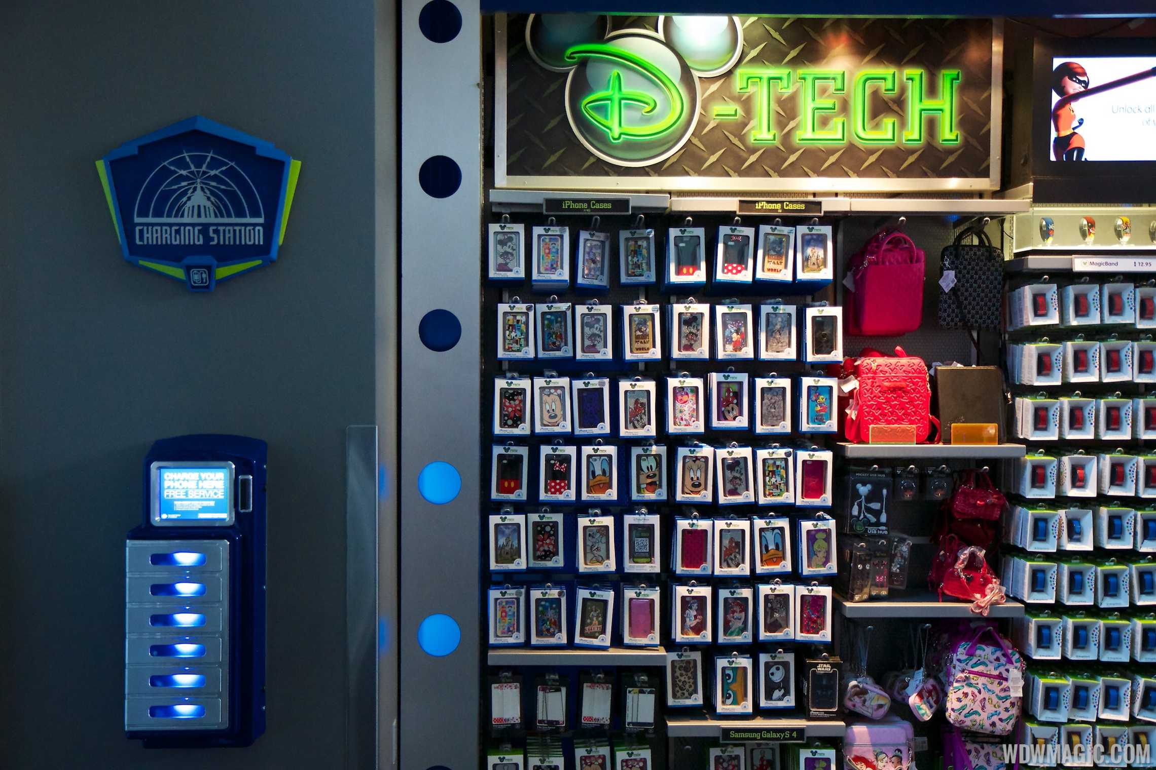The Space Mountain gift shop charging station