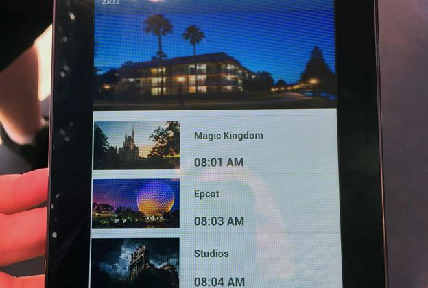 My Disney Experience bus wait times testing