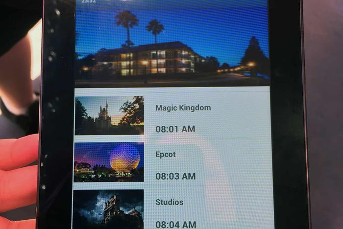 My Disney Experience bus wait times testing