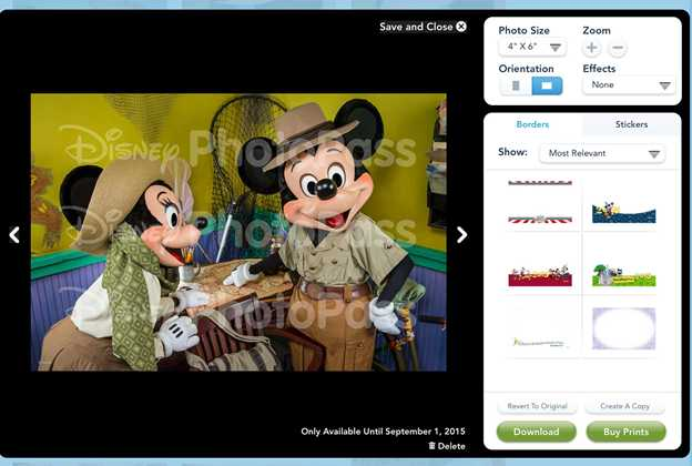 PhotoPass watermarked images
