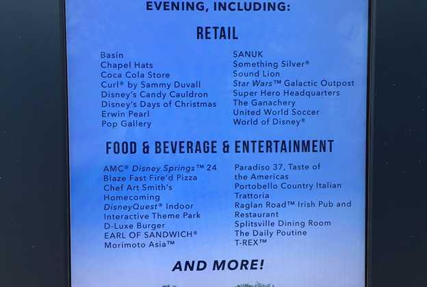 Disney Springs post Hurricane Matthew restaurants and shops operating