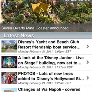 1 of 5: WDWMAGIC Updates - WDWMAGIC Screenshots - FREE iPhone and iPod Touch app from WDWMAGIC