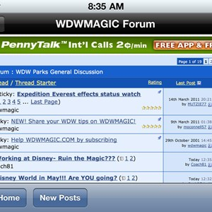 2 of 2: WDWMAGIC Updates - Landscape mode in the forums is now supported along with portrait