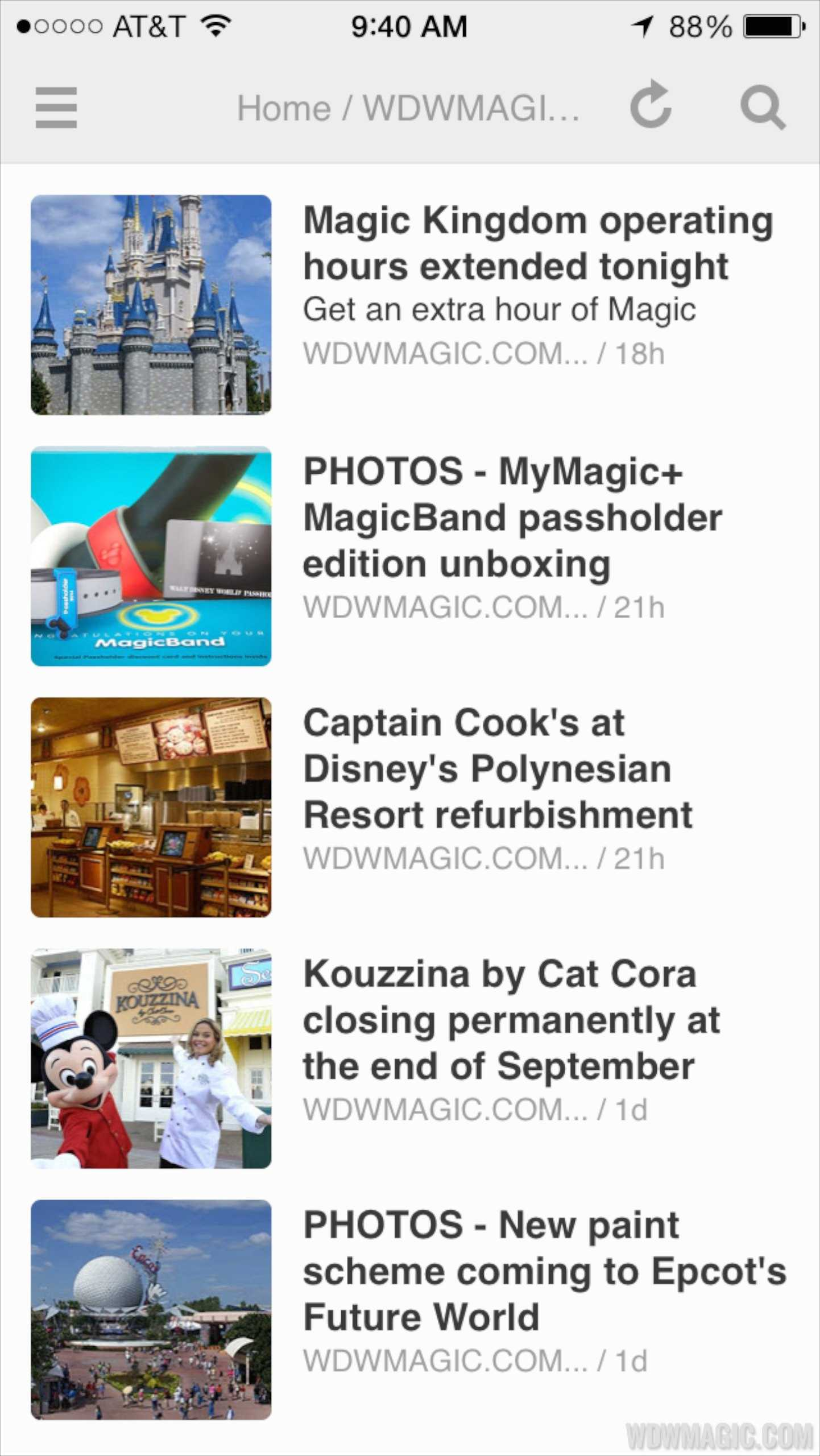 WDWMAGIC on Feedly via RSS
