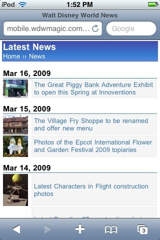 WDWMAGIC Mobile edition for iPhone and Windows Mobile
