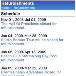 11 of 11: WDWMAGIC Updates - WDWMAGIC Mobile refurbishment schedule.