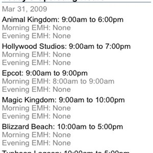 1 of 2: WDWMAGIC Updates - Operating Hours and Extra Magic Hours now available on WDWMAGIC Mobile