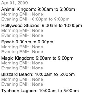 2 of 2: WDWMAGIC Updates - Operating Hours and Extra Magic Hours now available on WDWMAGIC Mobile