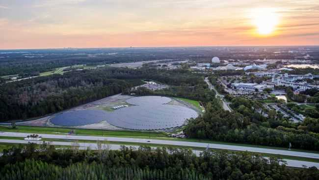 Completed Walt Disney World Solar Facility near Epcot