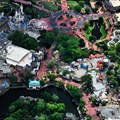 Walt Disney World Aerial Photos - An overhead look at the Magic Kingdom&#39;s Adventureland, Frontierland, Liberty Square, and Fantasyland