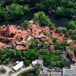 3 of 11: Walt Disney World Aerial Photos - Big Thunder Mountain Railroad and Splash Mountain