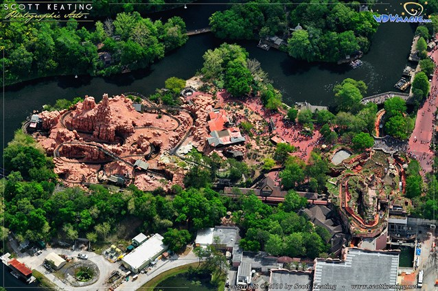 Walt Disney World Aerial Photos - Big Thunder Mountain Railroad and Splash Mountain