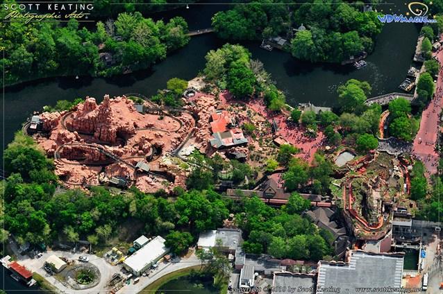 Walt Disney World Aerial Photos - Big Thunder Mountain Railroad and Splash Mountain