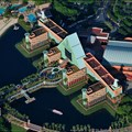 Walt Disney World Aerial Photos - The Walt Disney World Dolphin