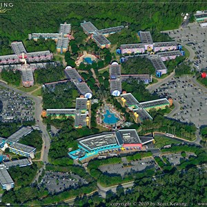11 of 11: Walt Disney World Aerial Photos - Disney's All Star Music Resort