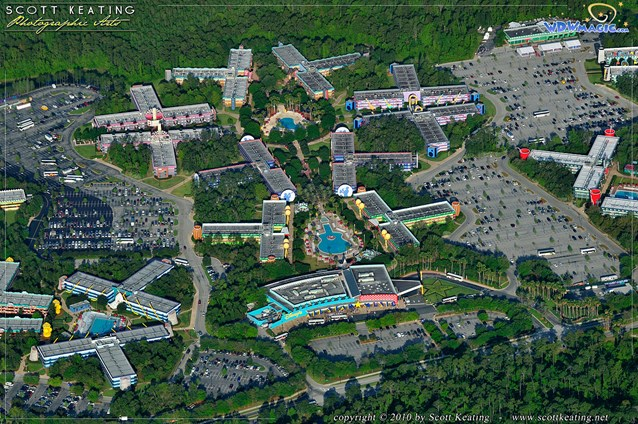 Walt Disney World Aerial Photos - Disney's All Star Music Resort