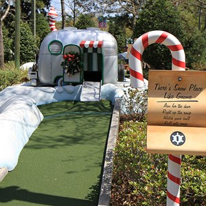 1 of 18: Winter Summerland Mini Golf - Hole 1