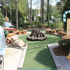 4 of 18: Winter Summerland Mini Golf - Hole 4