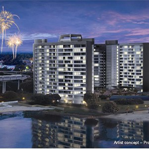 3 of 4: Bay Lake Tower at Disney's Contemporary Resort - Bay Lake Tower concept art