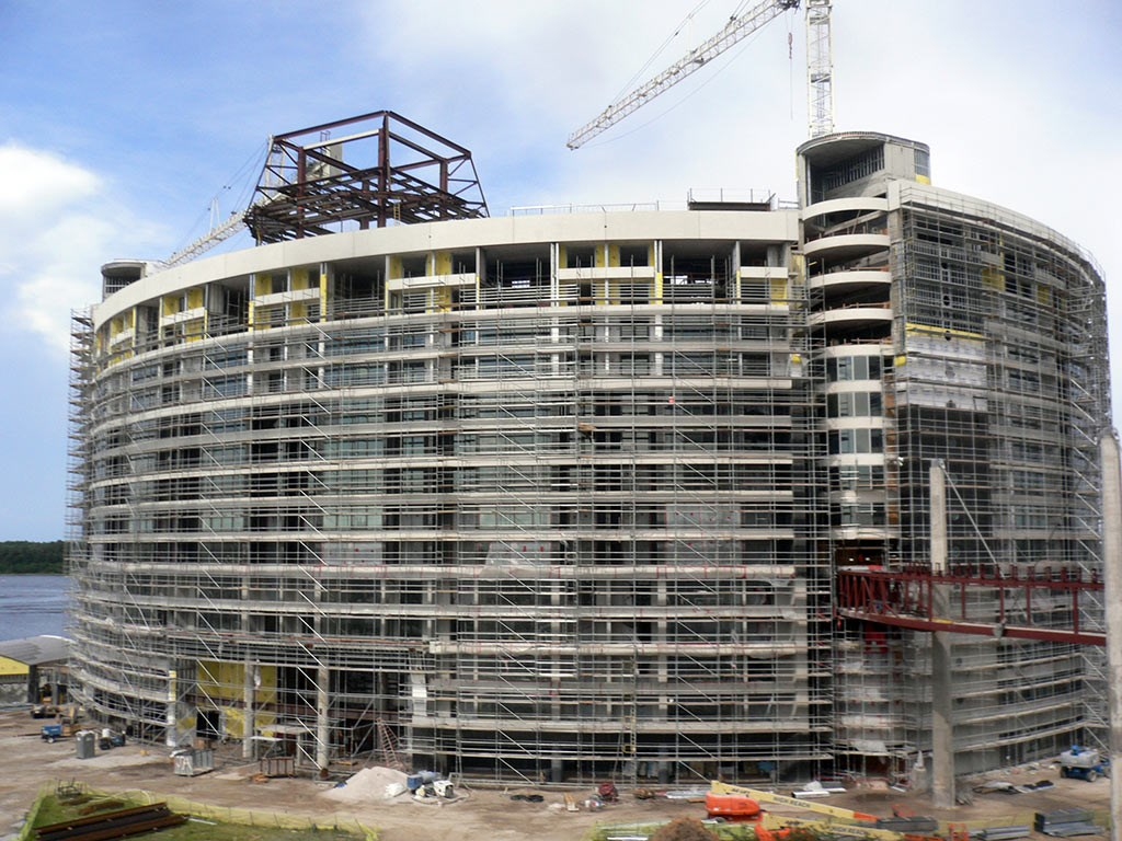 Latest Bay Lake Tower Construction Photos Photo 1 Of 2