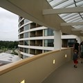 Bay Lake Tower at Disney&#39;s Contemporary Resort - The view towards the Magic Kingdom side of the Tower from the Sky Way Bridge