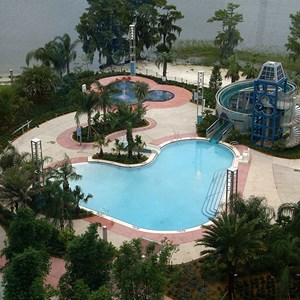 6 of 38: Bay Lake Tower at Disney's Contemporary Resort - The main zero-entry Bay Cove Pool