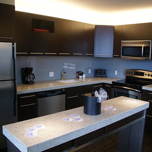 9 of 38: Bay Lake Tower at Disney's Contemporary Resort - The kitchen area in a 3 bedroom, 2 story grand villa