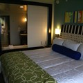 Bay Lake Tower at Disney&#39;s Contemporary Resort - The master bedroom view into the whirlpool tub and bathroom