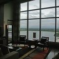 Bay Lake Tower at Disney&#39;s Contemporary Resort - The view from the living area onto Bay Lake, Spaceship Earth and Expedition Everest are on the horizon