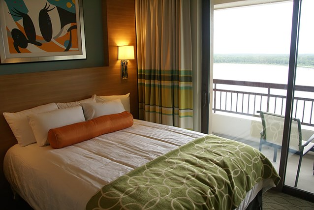 Bay Lake Tower at Disney's Contemporary Resort - One of the queen beds in a second story bedroom of the Grand Villa