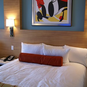 21 of 38: Bay Lake Tower at Disney's Contemporary Resort - One of the second story secondary bedrooms with 2 queen beds