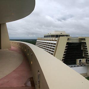 32 of 38: Bay Lake Tower at Disney's Contemporary Resort - The outdoor rooftop deck accessed from the Top of the World Lounge
