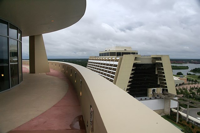 Bay Lake Tower at Disney's Contemporary Resort - The outdoor rooftop deck accessed from the Top of the World Lounge
