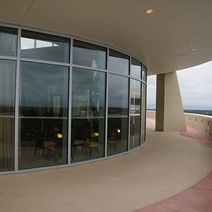 33 of 38: Bay Lake Tower at Disney's Contemporary Resort - Looking back towards the lounge from the outdoor rooftop deck