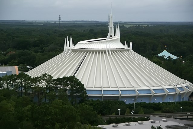 Bay Lake Tower at Disney's Contemporary Resort - Space Mountain viewed from the outdoor viewing location on the Bay Lake Tower rooftop