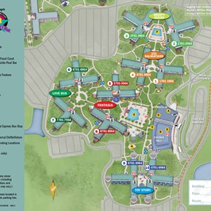 1 of 1: Disney's All Star Movies Resort - 2013 All Star Movies Resort guide map