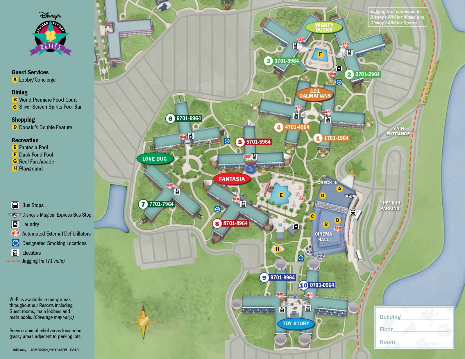 2013 All Star Movies Resort guide map