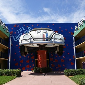1 of 4: Disney's All Star Movies Resort - Herbie The Love Bug buildings