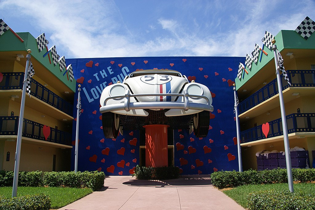 Herbie The Love Bug buildings Photo 1 of 4 : Disneys All Star Movies ResortFull7536 from www.wdwmagic.com size 1024 x 685 jpeg 79kB