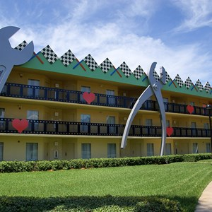 2 of 4: Disney's All Star Movies Resort - Herbie The Love Bug buildings