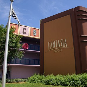 2 of 8: Disney's All Star Movies Resort - Fantasia buildings