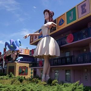 4 of 8: Disney's All Star Movies Resort - Fantasia buildings
