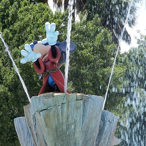 2 of 8: Disney's All Star Movies Resort - Sorcerer Mickey at the Fantasia pool