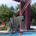 Disney's All Star Movies Resort - Sorcerer Mickey at the Fantasia pool