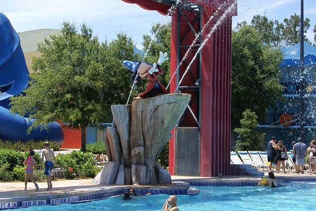 Disney's All Star Movies Resort - Sorcerer Mickey at the Fantasia pool