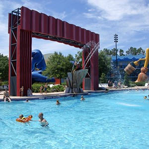 4 of 8: Disney's All Star Movies Resort - The Fantasia pool